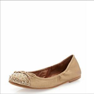 Sam Edelman Beatrix gold studded ballet flats 7.5
